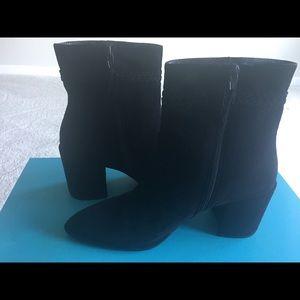 Black suede Stuart Weitzman boots